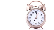 Ringing classical alarm clock Stock Footage