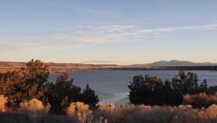 Lake cochiti Rio Grande Dam Stock Footage