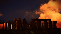 Stonehenge, England, sunset time lapse, exclusive on Pond5 - stock footage