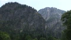 German Mountain Villiage with Tilt Down Stock Footage
