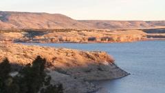 Lake cochiti fill dam Stock Footage