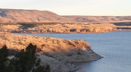 Stock Video Footage of lake cochiti fill dam