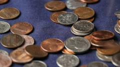 Coins Falling Stock Footage