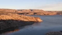 Lake cochiti dam Stock Footage