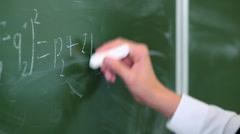School lesson - stock footage