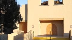 Indian Pueblo Church Stock Footage