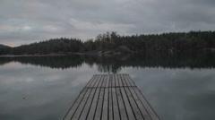 English Camp 01 - dock CU Stock Footage