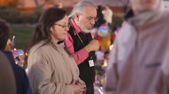 Day 3 - UMC AZ Vigil for victims - individual prayer by Dr. Carlos Gonzales Stock Footage