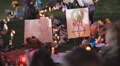 Day 3 - UMC AZ Vigil for victims symbolic signage peace not crosshairs Footage