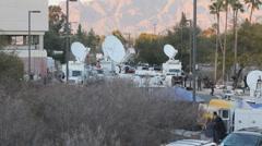 News media at the victim's vigil in Tucson Arizona - 7 Stock Footage