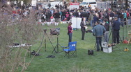 Stock Video Footage of News media at the victim's vigil in Tucson Arizona - 6