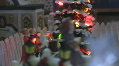 Stock Video Footage of Stock Footage - Christmas Village Miniature close up - Holiday