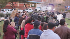 Day 3 - UMC AZ Vigil for victims - the crowd and media Stock Footage