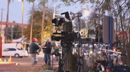 Stock Video Footage of News media at the victim's vigil in Tucson Arizona - 2