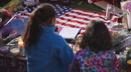 Day 3 - UMC AZ Vigil for victims - two young girls  Stock Footage