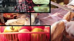 multiscreen food - stock footage