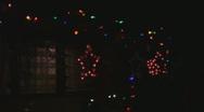 Flashing Holiday Lights  Stock Footage