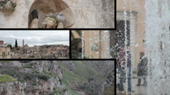 Multiscreen Matera Day  Stock Footage