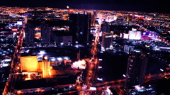 Vegas Strip Overhead Time Lapse Stock Footage