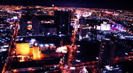 Stock Video Footage of Vegas Strip Overhead Time Lapse