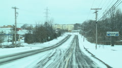 Snowy drive - stock footage