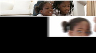 Montage of an afro-american family Stock Footage