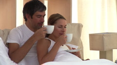 Animation of a couple drinking coffee Stock Footage