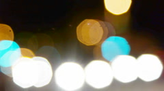 Abstract defocused city street lights - stock footage