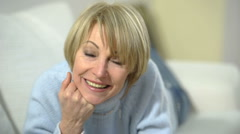 Happy/Cheerful Senior Woman; HD Photo JPEG Stock Footage