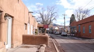 Stock Video Footage of Downtown Santa Fe 0315