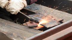 Gas welding Stock Footage