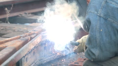Electric welding Stock Footage