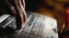 Keyboard Stock Footage