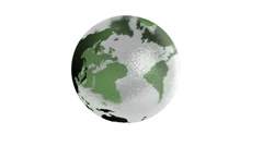 Seamless rotating earth made from glass - stock footage