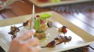 Delicious dessert closeup Stock Footage