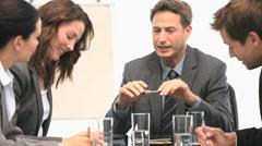 A meeting between coworkers Stock Footage