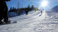 Stock Video Footage of ski lift