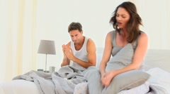 Woman disputing with her husband Stock Footage