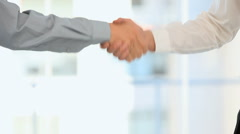 Men shaking hands Stock Footage