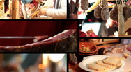Stock Video Footage of gastronomic composition 1