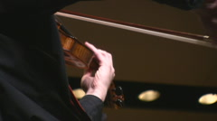 Violin Player at concert Stock Footage