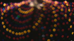 Abstract Holiday Tree of lights - Zliker Park in Austin, TX Stock Footage