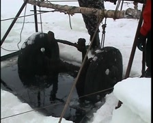 Sunken cars on Lake Ladoga Stock Footage