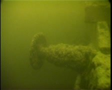 Sunken railroad cars on Lake Ladoga Stock Footage