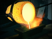 Stock Video Footage of Gold Melting 01