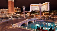 Stock Video Footage of Venetian Vegas Motion Time-Lapse