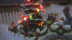 Holiday Village Scene with Star Filter Stock Footage