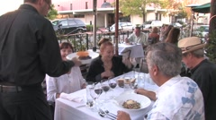People Dining Out at Restaurant Stock Footage