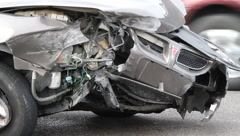 Car Accident Scene  0795 Stock Footage