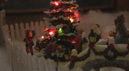 Holiday rotating village scene Stock Footage